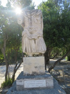 Patung Kaisar Hadrian, sang pecinta budaya Yunani.