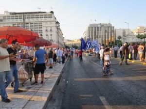 suasana demo di sekitar Syntagma Square