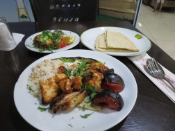 Chicken Shish, my dinner after a day walking around Sardis and Pergamum
