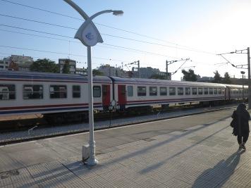 Kereta yang membawa saya menuju Selcuk dari Izmir