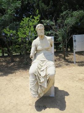 Patung Homer sang pengarang Illiad