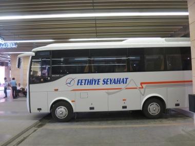 Bis Fethiye Seyahat rute Denizli - Fethiye