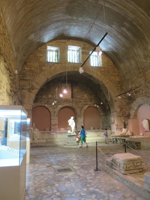 Salah satu ruang di Museum Side yang dulunya merupakan caldarium (ruang panas)