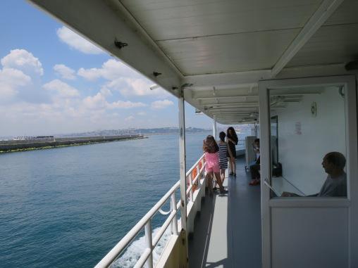 Kapal ferry dari Kadikoy ke Eminonu