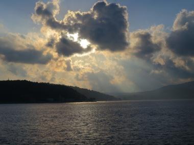 Pemandangan Senja di Selat Bophorus