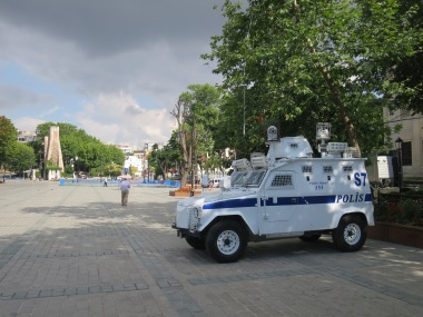 mobil polisi di SultanAhmet