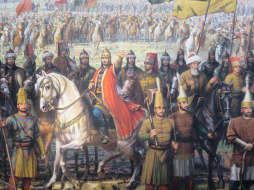 Sultan Mehmet II, Sang Penakluk, bersama rombongan prajurit Jannisaries