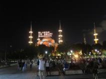 Suasana malam di Sultanahmet
