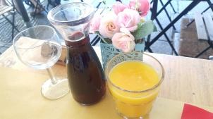 wine and orange juice