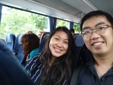 Di dalam bus menuju San Marino