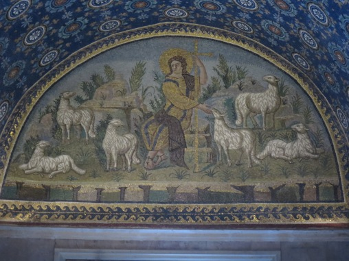 Mosaic Christ as Good Shepherd