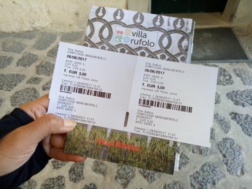 Tiket masuk Villa Rufolo