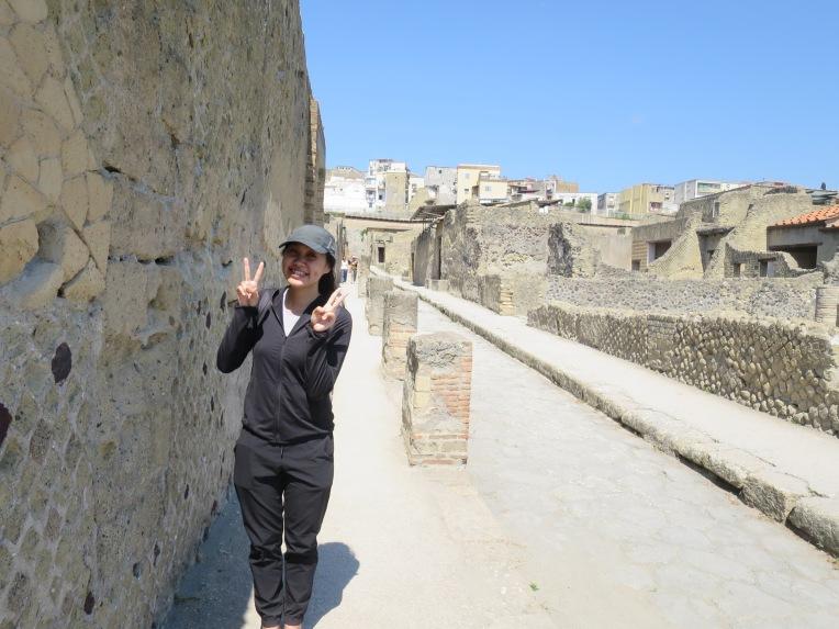 Si nyonya di jalan kuno Herculaneum