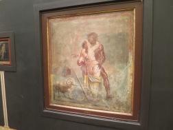 Mosaik faun menggoda wanita