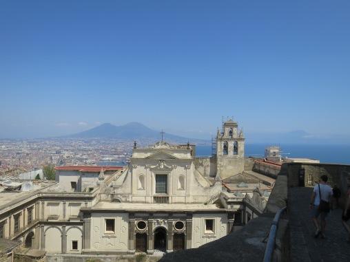 Biara San Martino dengan Guung Vesuvius