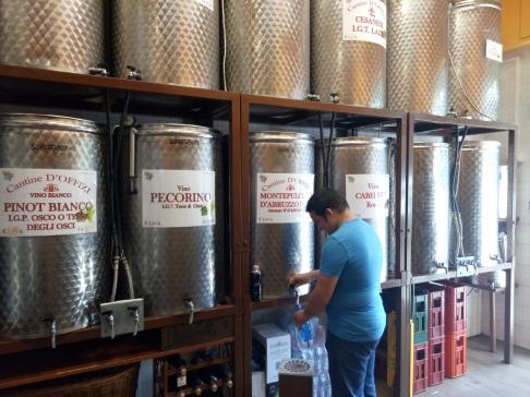 anggur literan di Vino Sfusi di Qualita