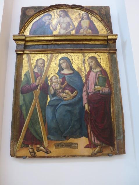 Mosaik Rasul Andreas ,Bunda Maria dan Bayi Yesus