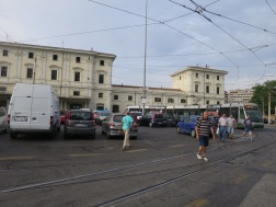 Stasiun Trastevere dan tram