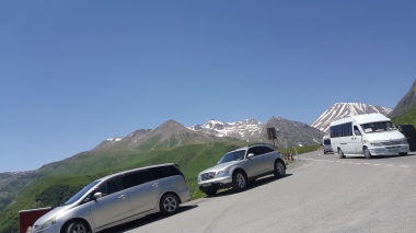 on the way to Kazbegi