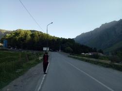 Pagi yang sepi di Kazbegi