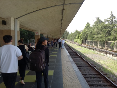 Platform Metro di stasiun Didube
