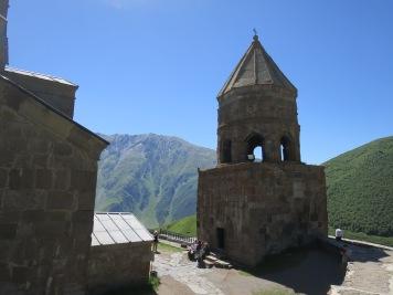 Menara lonceng di kompleks gereja