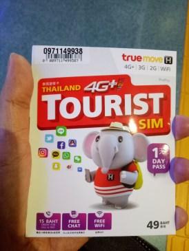 Simcard yang kami gunakan di Thailand.Harganya cuma 200baht (Rp 80rban).Kuotanya TAK TERBATAS alias sepuasnya selama 7 hari.