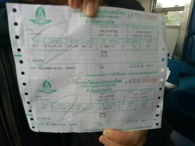 Tiket Hat Yai Padang Besar yang harganya cuma 50 baht