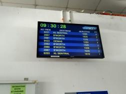 Jadwal keberangkatan kereta