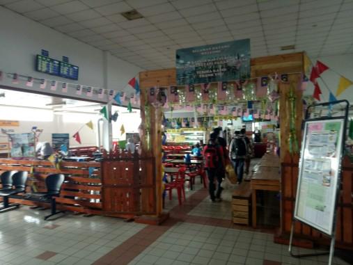Kantin di Stasiun Kereta Padang Besar