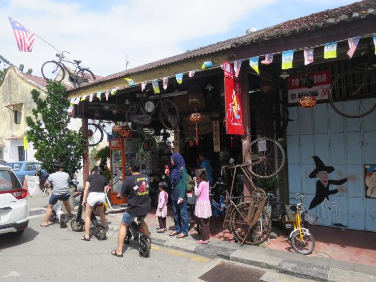 Tempat penyewaan sepeda di Lebuh Ah Quee