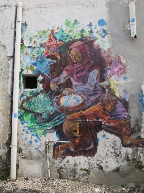 Mural Keseharian penduduk Melayu