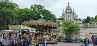 Basilica Sacre Cour dan bukit Montmartre