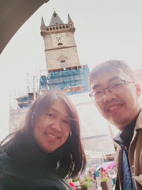 Selfie dengan Clock Tower yang masih direnovasi