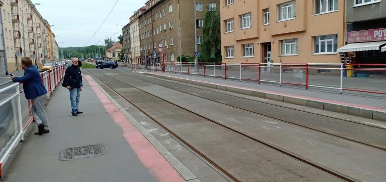 Track tram dekat U Kastanu