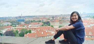 Praha dari atas