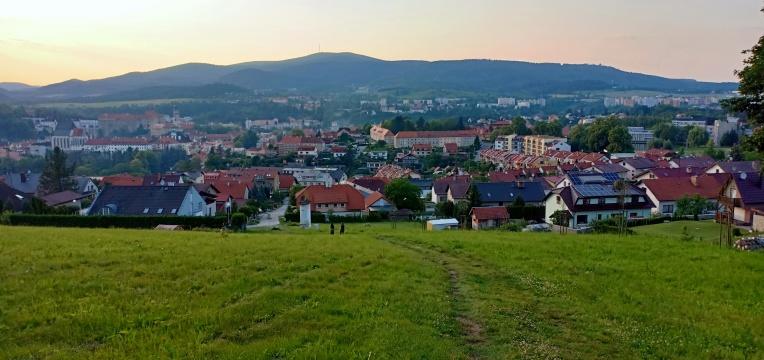 Pemandangan kota Cesky Krumlov