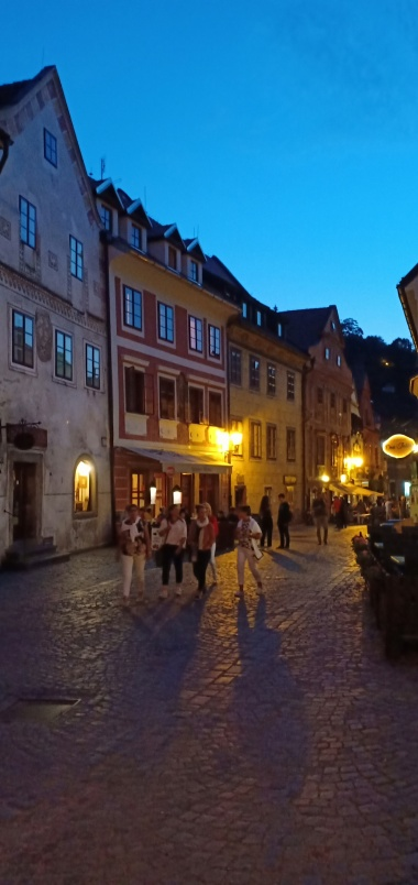 Night scene at Cesky Krumlov