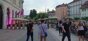 Jalan-jalan sore di old town Ljubljana