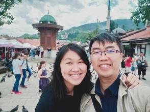 Pasangan bahagia di Sarjevo