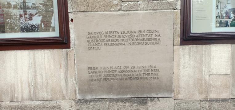 Tempat Gavrio Princip menembak Franz Ferdinand